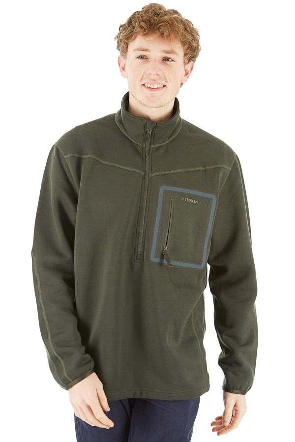 Filson Adult Unisex Shuksan Half-Zip Fleece Jacket, L Tar