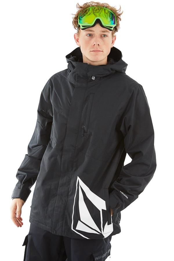 Volcom 17 Forty Insulated Ski/Snowboard Jacket L Black