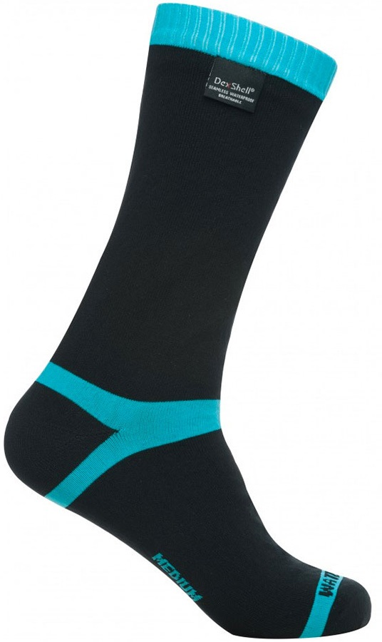 DexShell Coolvent Waterproof Socks, UK 3-5 Aqua Blue Stripe