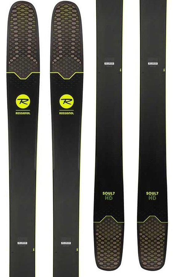 Rossignol Soul 7 HD Ski Only Skis, 188cm Black/Yellow 2018