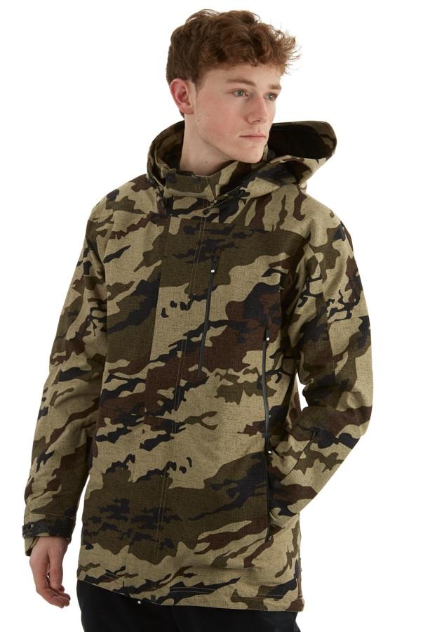 Bonfire Aspect 3L Stretch Ski/Snowboard Jacket, M Khaki Camo