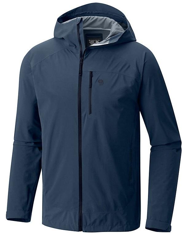 Mountain Hardwear Stretch Ozonic Jacket Waterproof Shell, XL Zinc