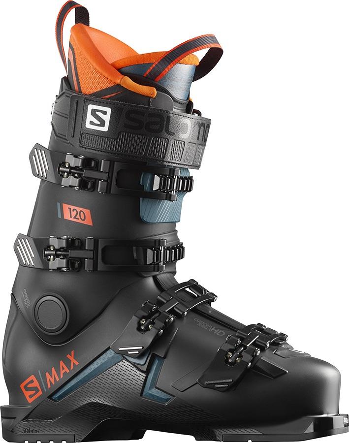 Salomon S/Max 120 Ski Boots, 25/25.5 Black/Orange 2020