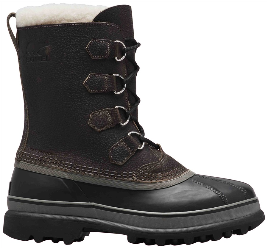 Sorel Caribou Wool Men's Snow Boots, UK 10 Quarry/Black