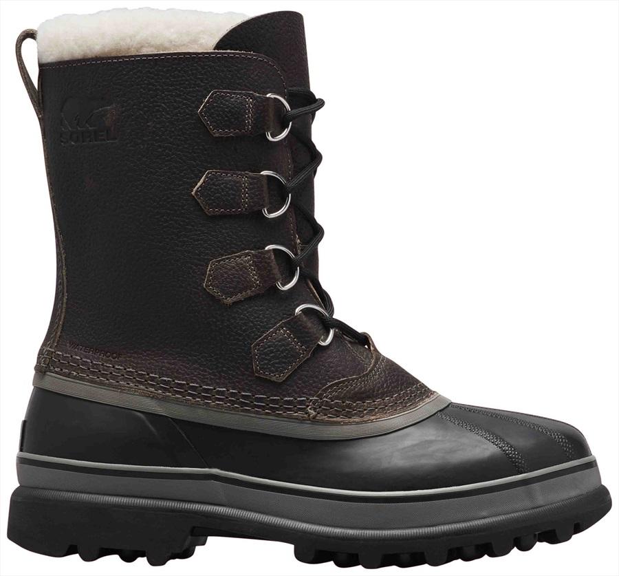 Sorel Caribou Wool Men's Snow Boots, UK 7 Quarry/Black