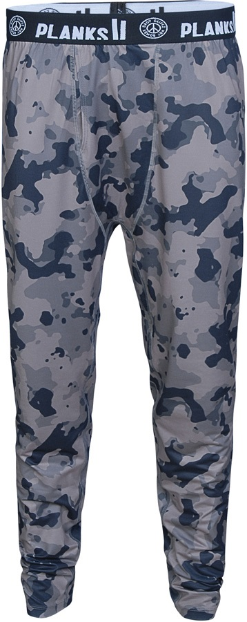 Planks Mens Fall-Line Base Layer Thermal Bottoms, L Stone Camo Camo