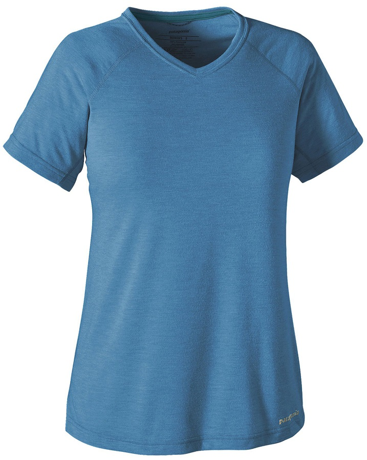 Patagonia Women's S/S Nine Trails Shirt L Radar Blue