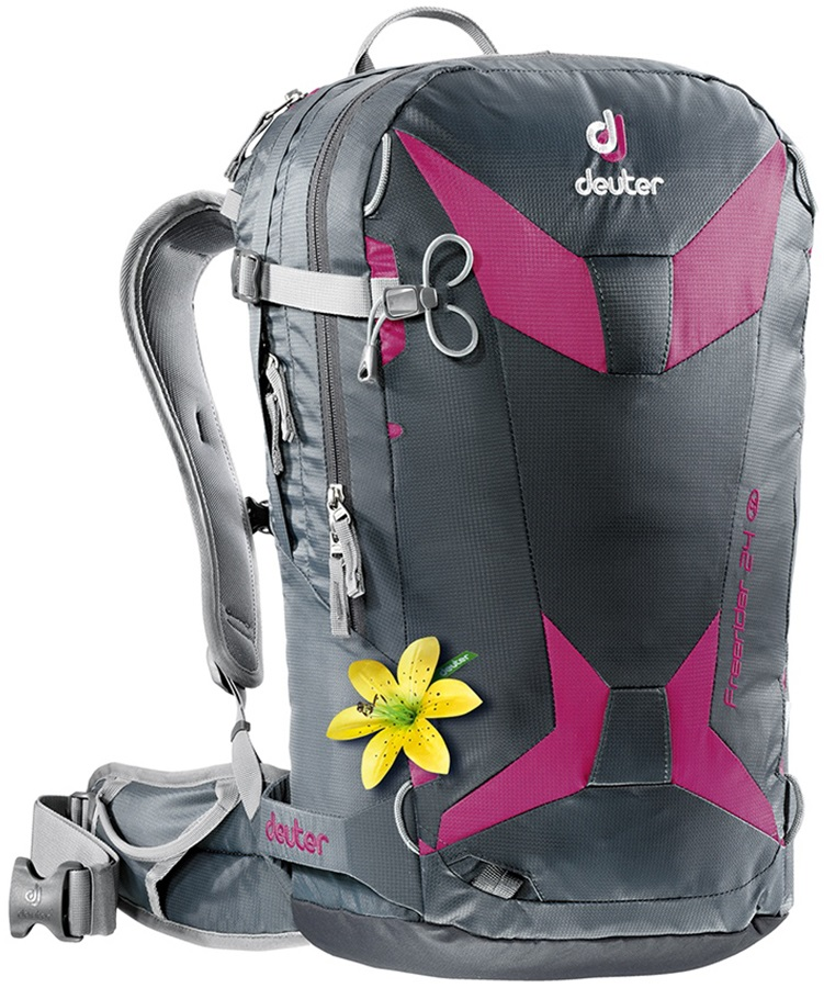 Deuter Freerider 24 SL Women's Ski/Snowboard Backpack Graphite/Magenta