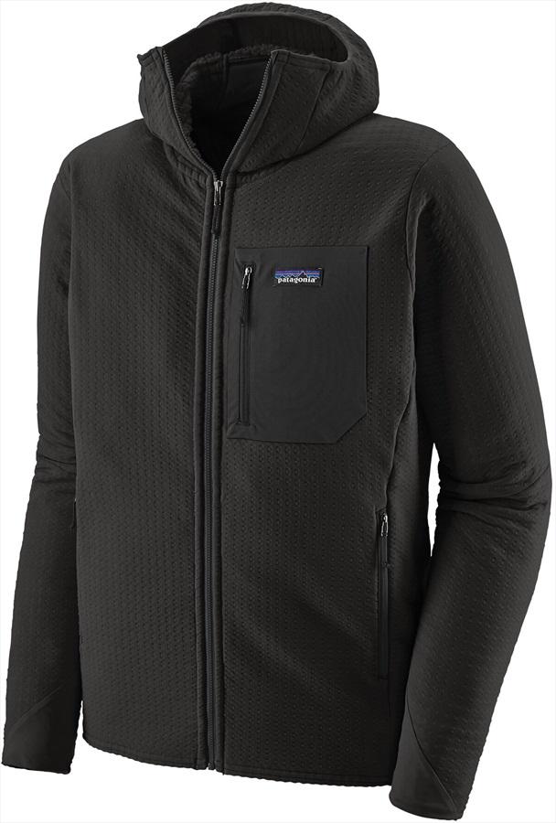 Patagonia R2 TechFace Hoody Softshell Jacket, L Black