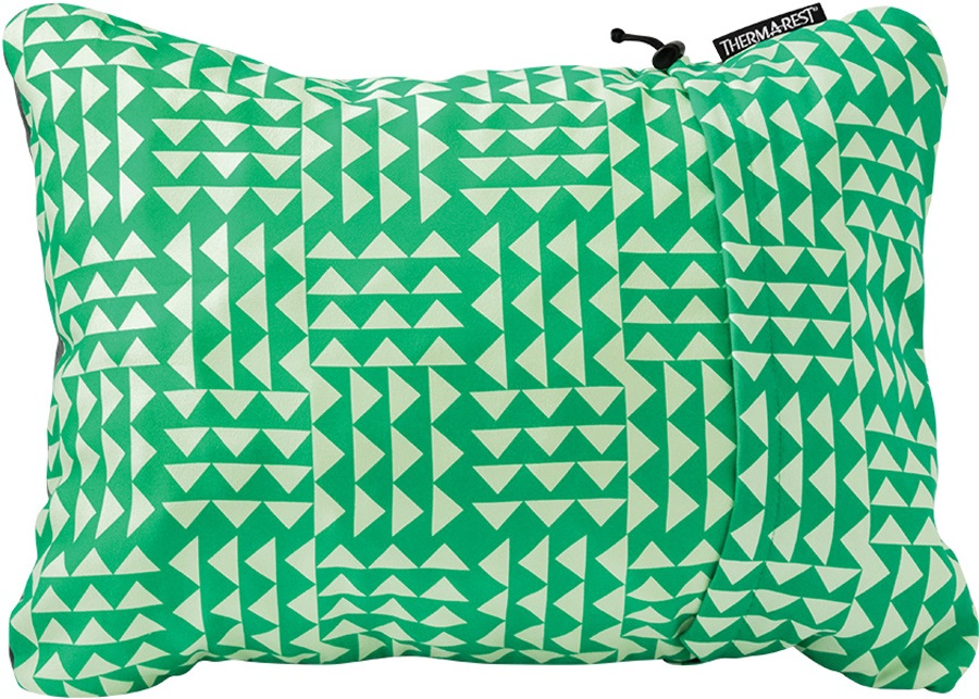 ThermaRest Compressible Travel Pillow Camping Pillow, L Pistachio