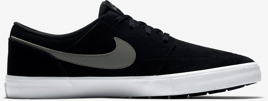 Nike SB Portmore II Solar Skate Shoes UK 13 Black/Dark Grey