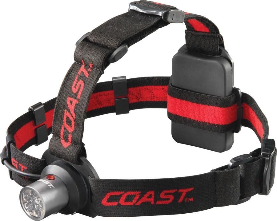 Coast HL4 Headlamp IPX4 LED Head Torch, 145 Lumens Red