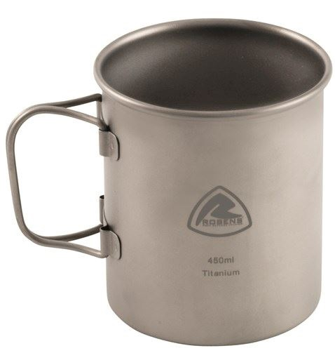 Robens Titanium Mug Ultralight Backpacking Cup, 450ml Grey