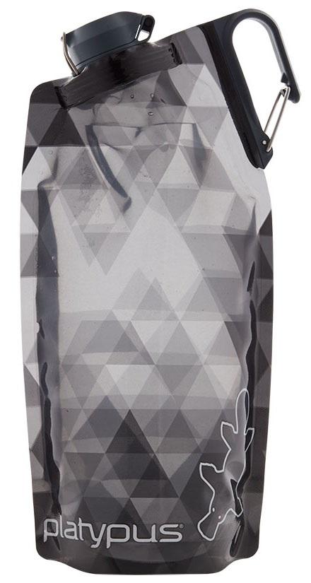 Platypus Duolock Softbottle Flexible Water Bottle, 750ml Grey Prisms