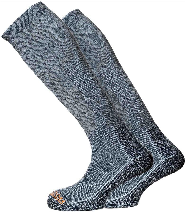 Horizon Winter Sport 2pk Thermolite Ski/Snowboard Socks, UK 8-12 Grey