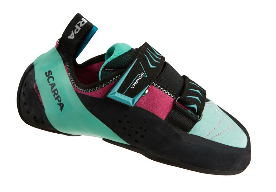 Scarpa Vapour V WMN Rock Climbing Shoe: UK 2.75 | EU 35, Dahlia & Aqua