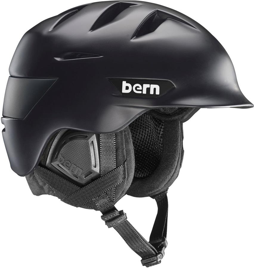 Bern Rollins Ski/Snowboard Helmet, M Matte Black