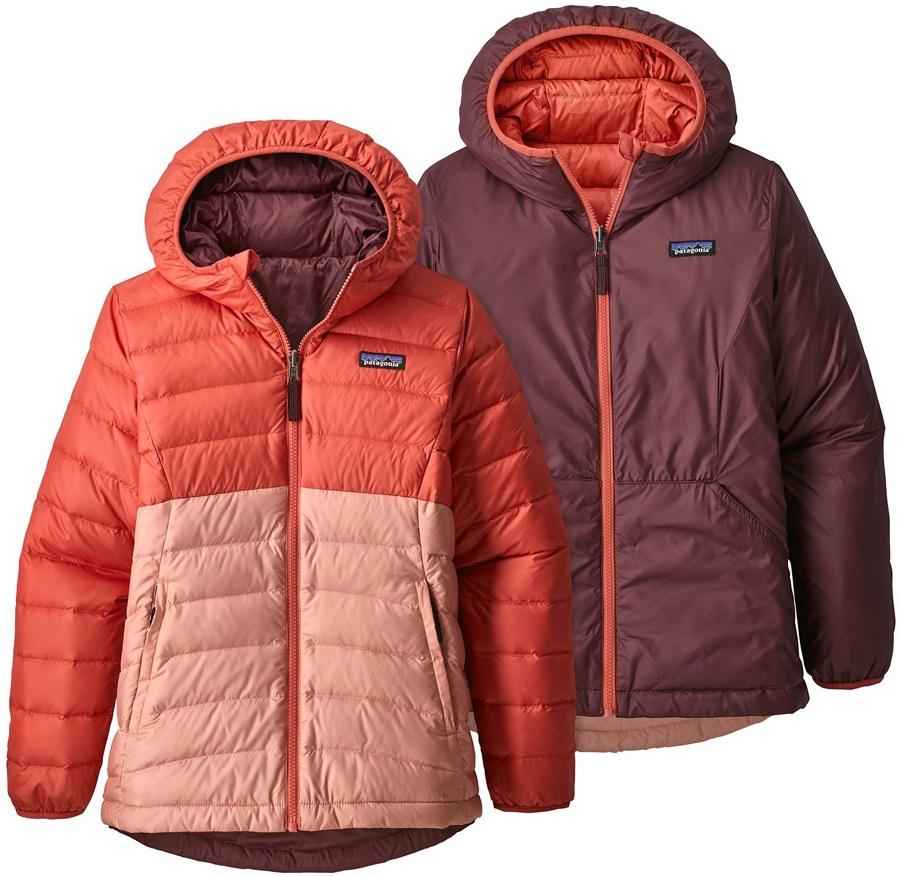 81b9824189a Patagonia Reversible Down Sweater Hoody Girls Down Jacket