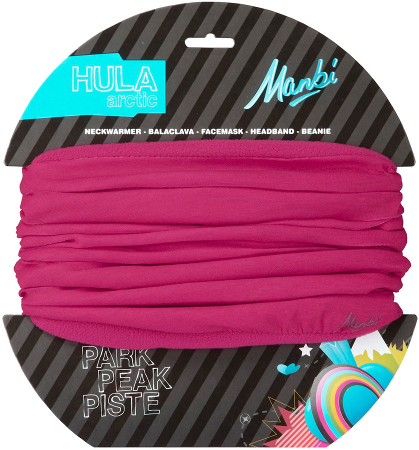 Manbi Hula Arctic Microfleece Lined Neck Tube, Kids Raspberry