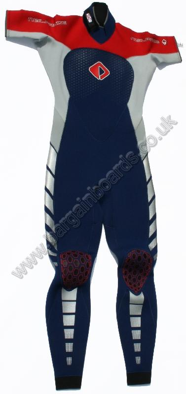 NPX SS Steamer 3 / 2 Wetsuit Small Tall Euro 94 Blue Red