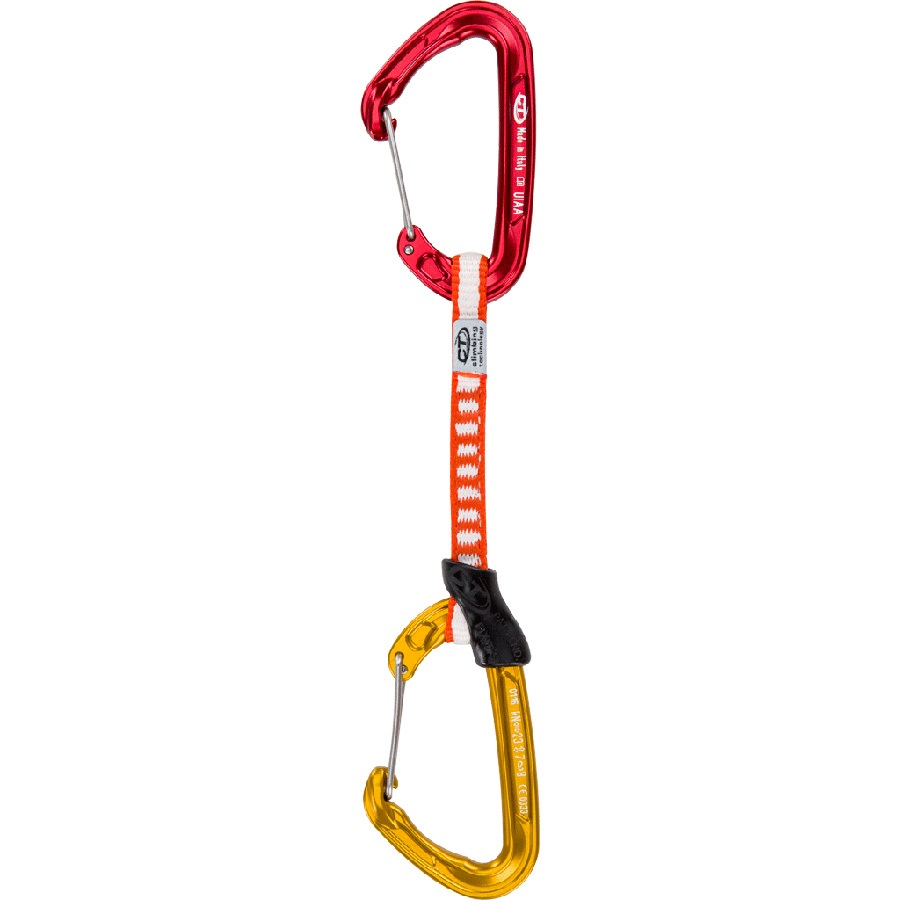 Climbing Technology FLY Weight Pro DY Climbing Quickdraw 12cm Red/Gold