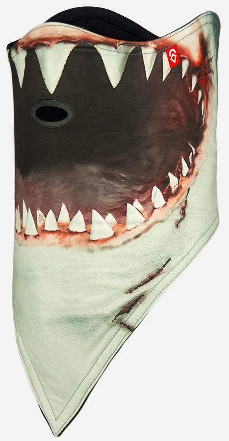 Airhole Standard 2 Layer Snowboard/Ski Face Mask, S/M Shark