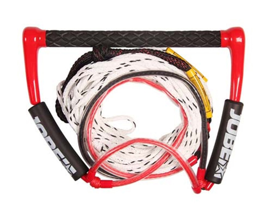 Jobe 15 Easy Up Deluxe Slalom Rope| Handle Combo, Deep V Blck Red 2019