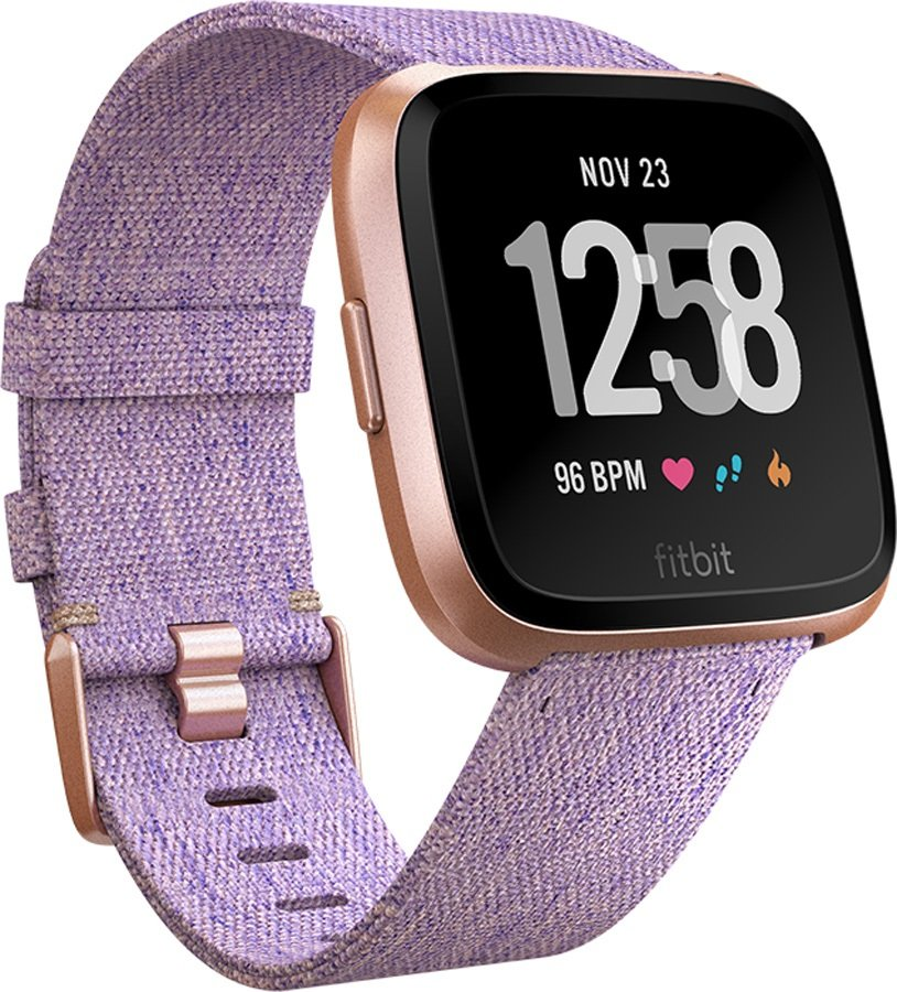 FitBit Versa SE Heart Rate & Fitness Smartwatch, Lavender Woven