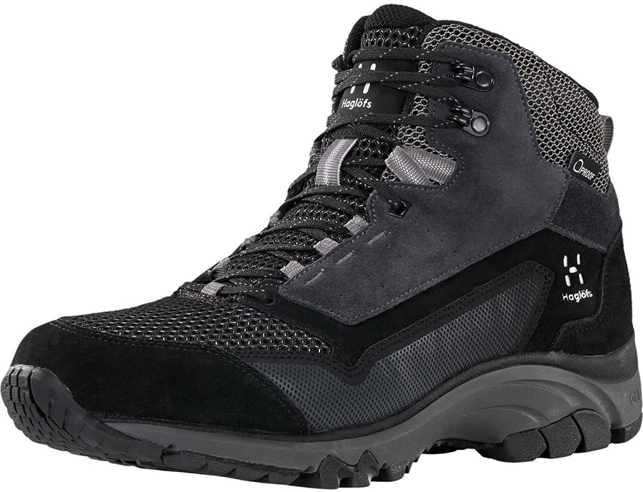 Haglofs Skuta Mid Proof Eco Men's Hiking Boots, UK 11 True Black