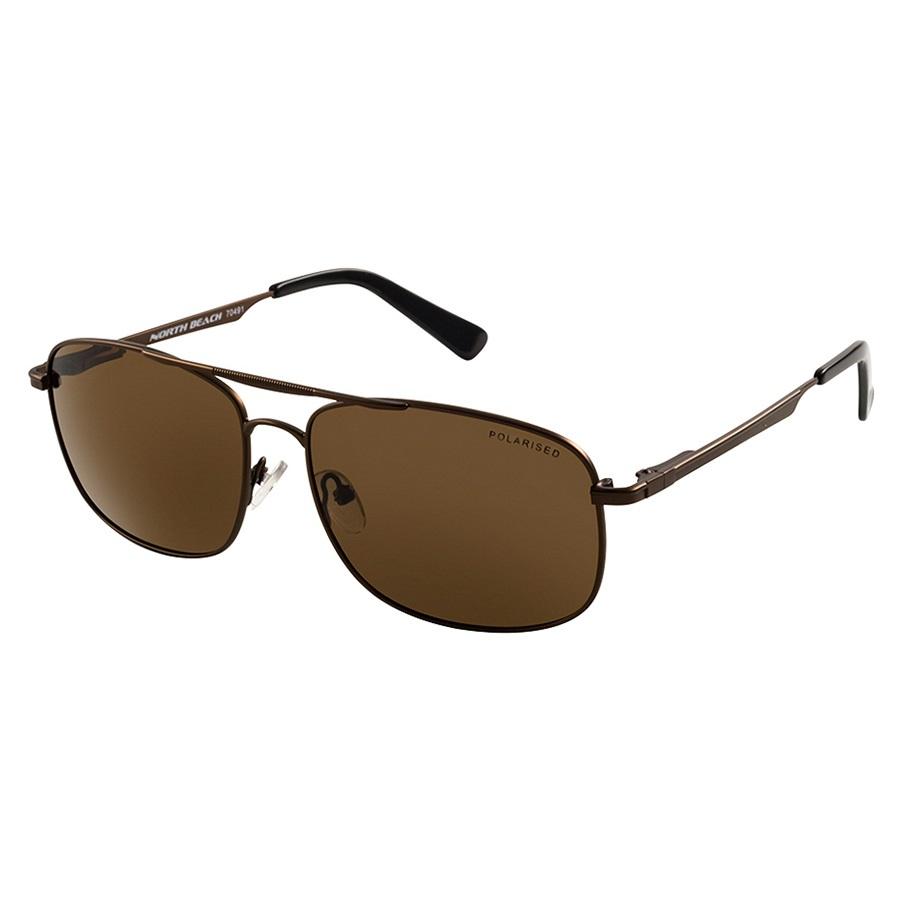 North Beach Cusk Brown Polarised Sunglasses, Antique Brown