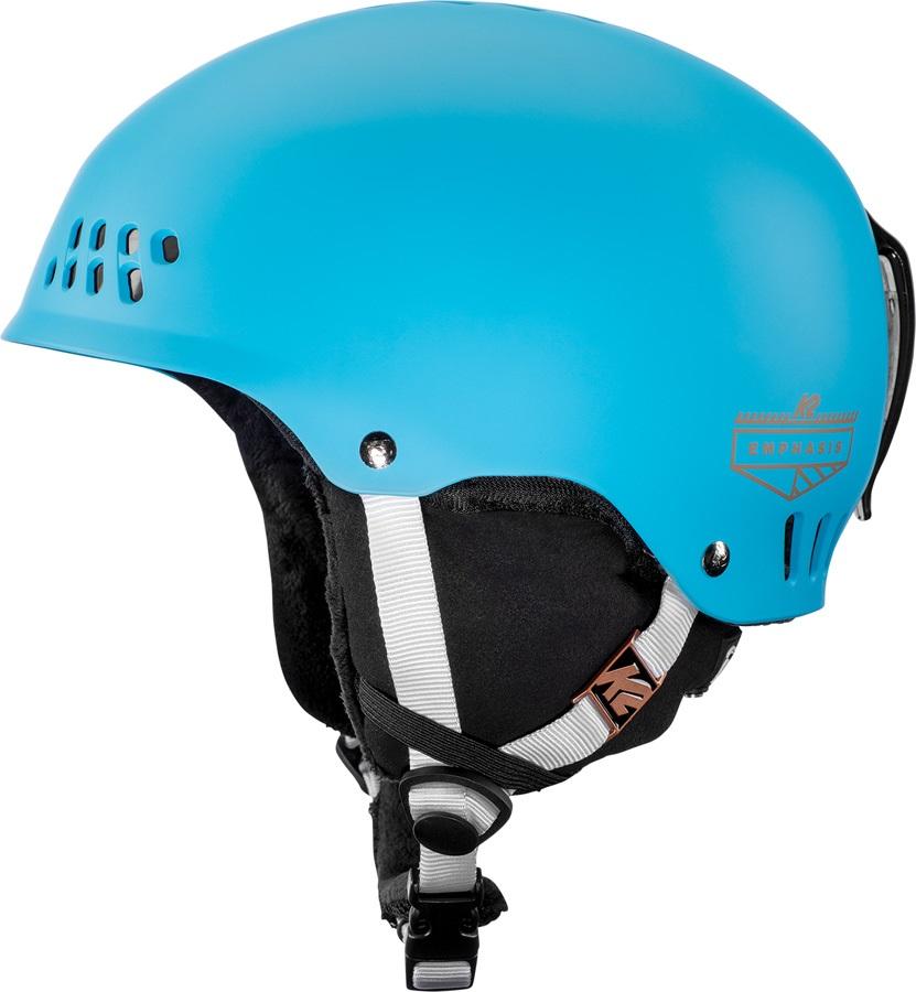 K2 Womens Emphasis Women's Ski/Snowboard Helmet, M Blue