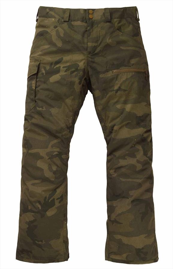 Burton Covert Insulated Snowboard/Ski Pants Trousers, M Worn Camo