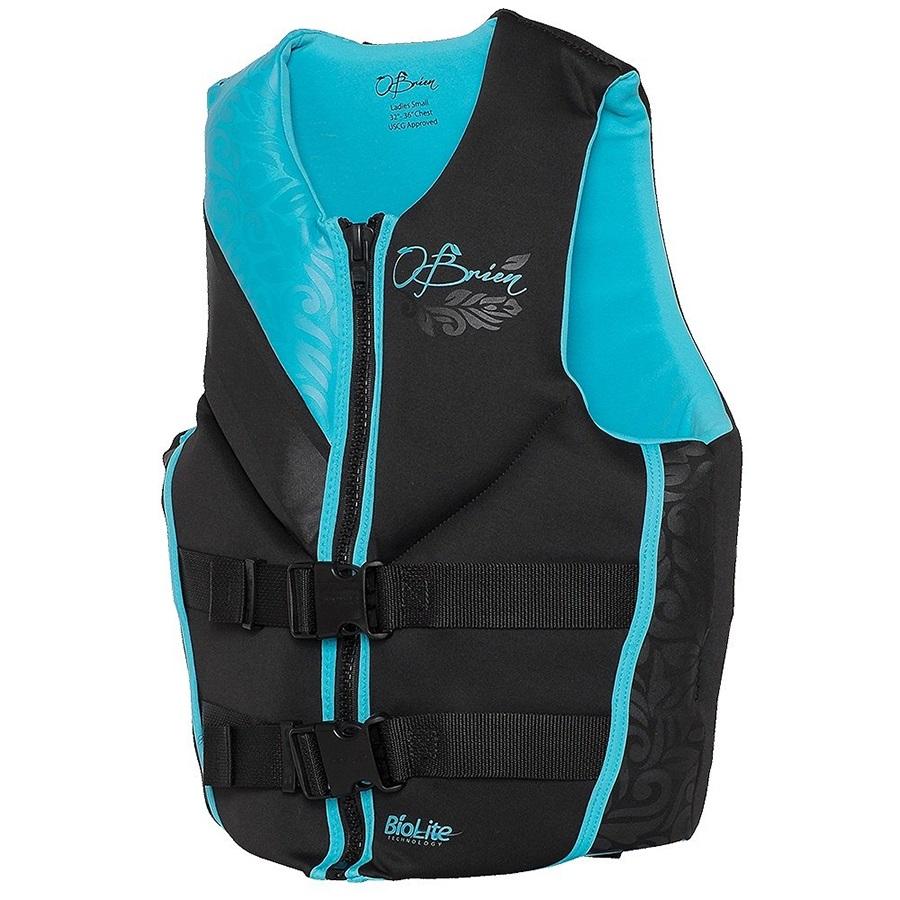 O'Brien Focus Ladies Biolite Buoyancy Jacket, X Large Black Blue