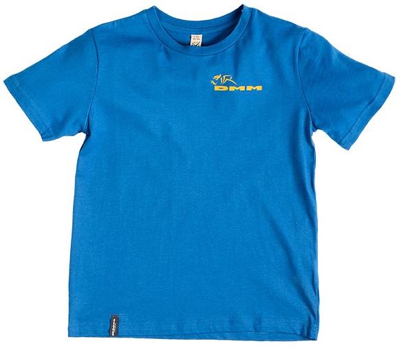 DMM Climb Now Homework Later Kids Rock Climbing T-Shirt, 9-10 Blue
