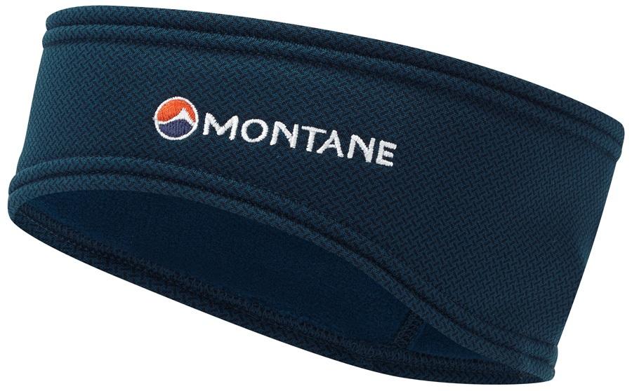Montane Iridium Stretch Fleece Ear Dropped Headband, Narwhal Blue