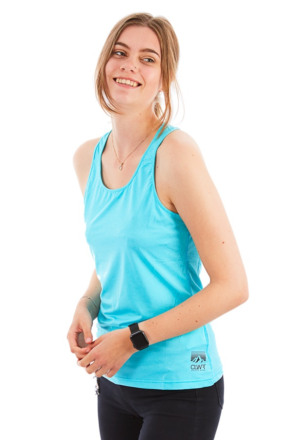 Colour Wear Pace Women's Tank Top Vest, S Radient Blue