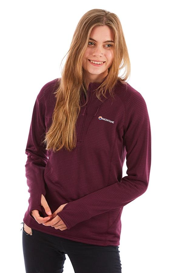 Montane Power Up Half-Zip Women's Pullover Fleece Top, S Berry