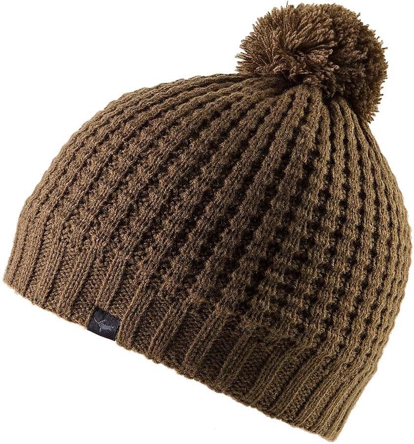 SealSkinz Waterproof Waffle Knit Bobble Hat, L/XL Olive