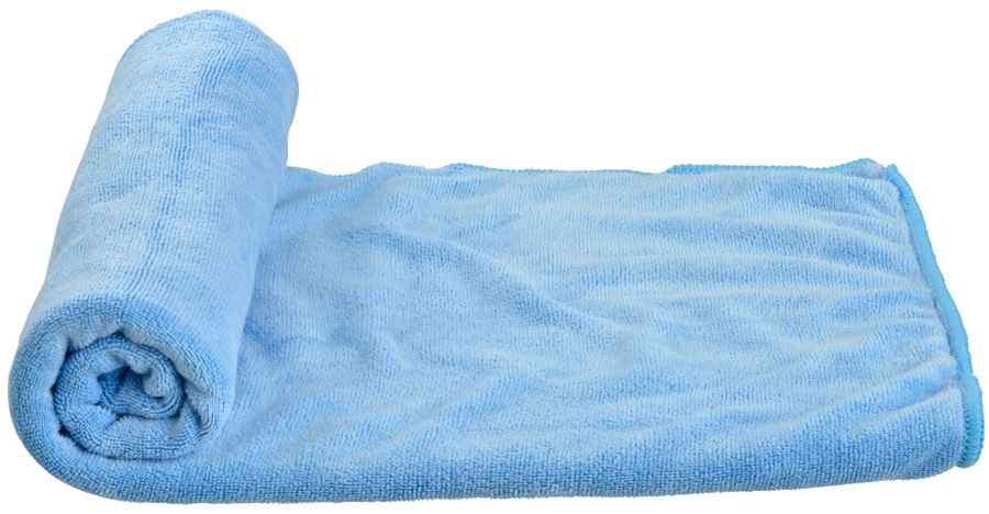 Care Plus Microfibre Towel Compact Travel Towel, Medium Blue