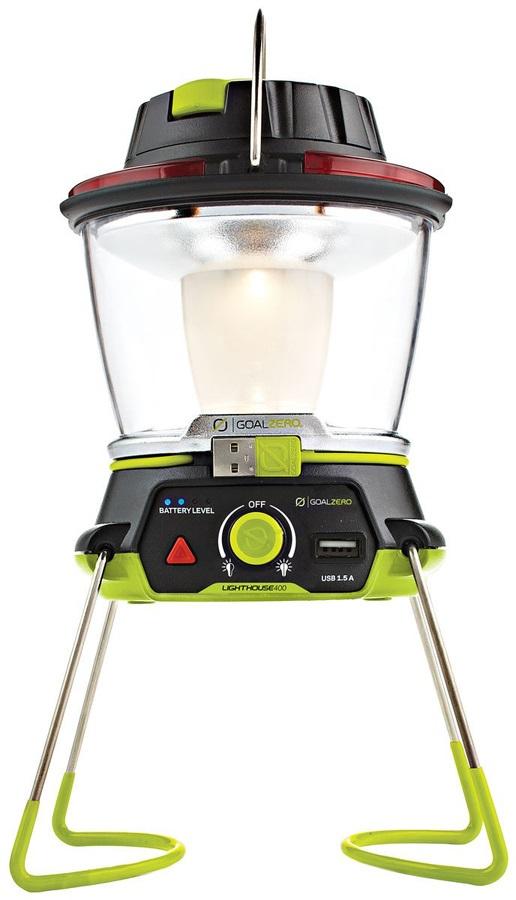 Goal Zero Lighthouse 400 Travel Lantern & USB Power Hub Green/Black