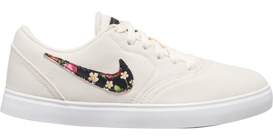 Nike SB Check Canvas VF Women's/Kid's Skate Shoes, UK 3 Ivory/Black