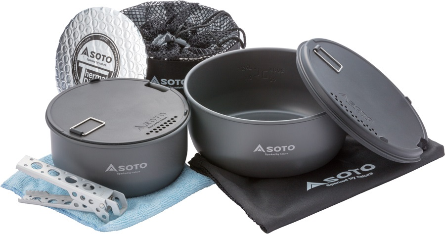Soto Navigator Cookset Compact Backpacking Cookware, Anthracite