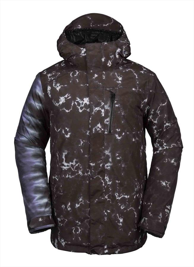 Volcom L Gore-Tex Snowboard/Ski Jacket M Black Print