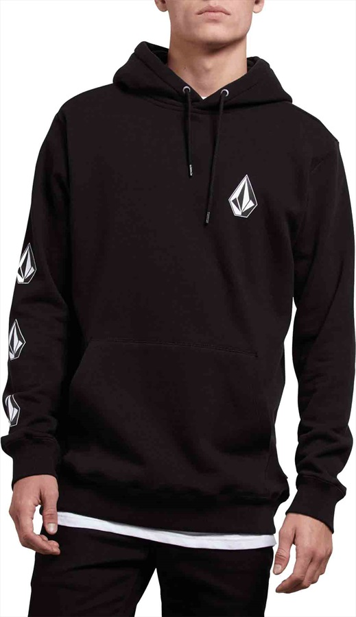 Volcom Deadly Stone Pullover Hoodie, M Washed Black