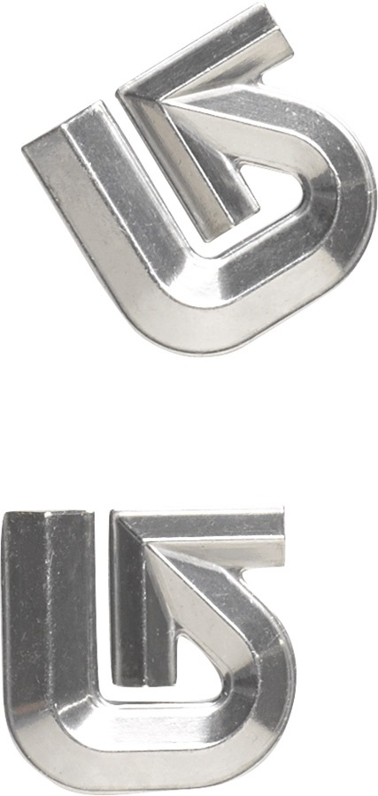 Burton Aluminium Logo Mat Snowboard Stomp Pad, Silver