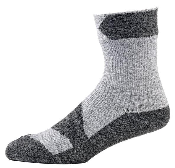 SealSkinz Walking Thin Ankle Waterproof Socks, S Grey Marl/Dark Grey
