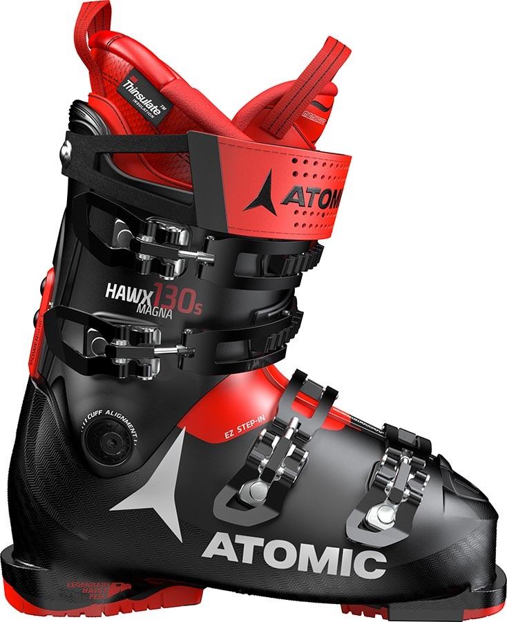 Atomic Hawx Magna 130 S Men's Ski Boots, 27/27.5 Black/Red 2020