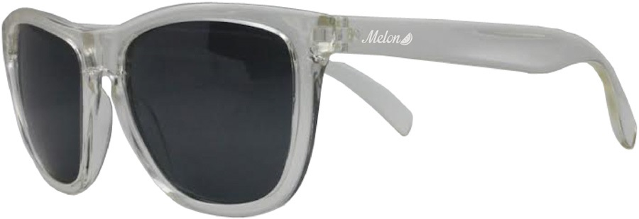 Melon Layback Smoke Polarized Sunglasses, Frost