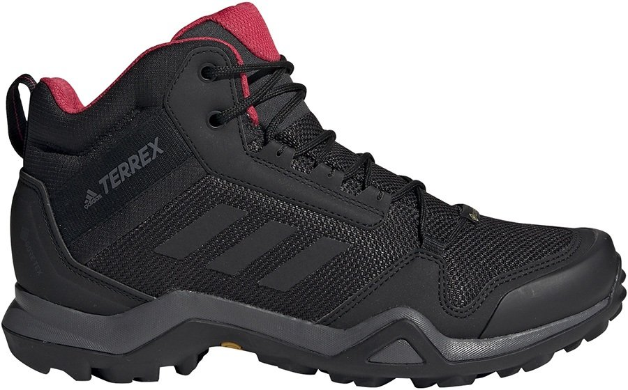 Adidas Terrex AX3 Mid GTX Women's Hiking Boots, UK 4 Black/Pink