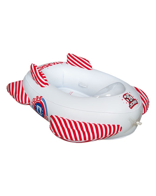 Jobe Starship Trainer Kids Towable Inflatable 2 Rider White Red